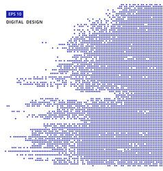 square blue pattern pixel mosaic digital vector image