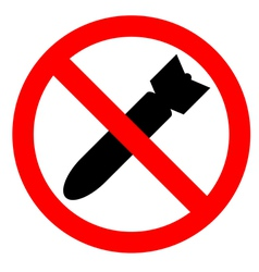 stop bombing vector image