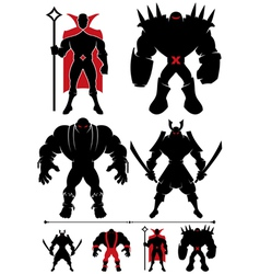 Supervillain Silhouette vector image vector image