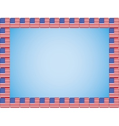 United States flag icons border vector image