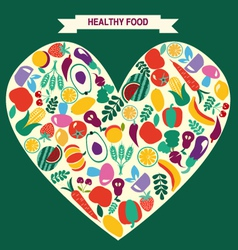 VEGETARIAN symbol Healthy Food icons vector image vector image