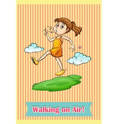 Walking vector image