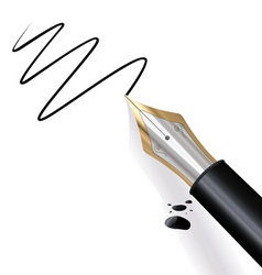 writing fountain pen vector image