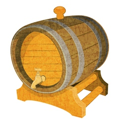 Wine Cask vector image
