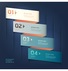 Modern origami options banner vector