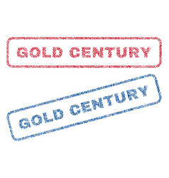 Gold century textile stamps vector