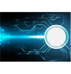 Blue electronic technology background vector