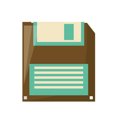 Diskette old technology vector