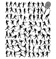 tennis 5 vector image