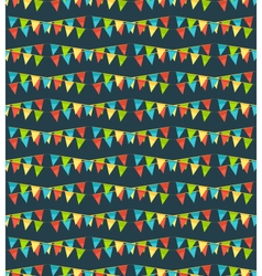 Seamless bright fun celebration festive buntings vector image