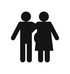 Man and pregnant woman icon vector
