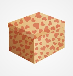 Carton box with hearts vector