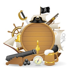 Pirate concept icons 03 vector
