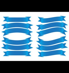 Ribbon banner blue vector