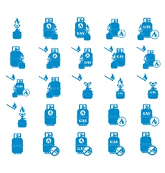 Set of camp stove icons on eps pointers vector
