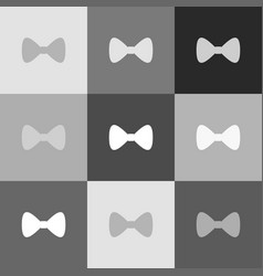 bow tie icon grayscale version of popart vector image vector image