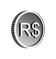 Brazilian real sign icon simple style vector image vector image
