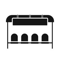 Bus stop station icon simple style vector