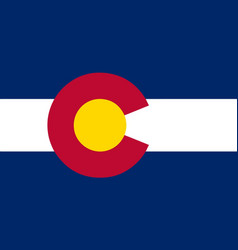 Colorado state flag vector