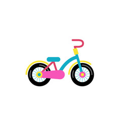 colorful bicycle for children vector image