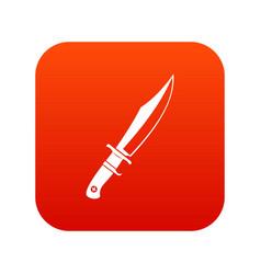 Dagger icon digital red vector