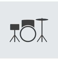 Drum set icon vector