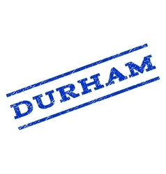 Durham watermark stamp vector
