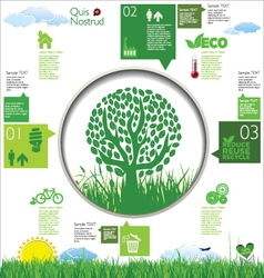 Ecology infographic design vector
