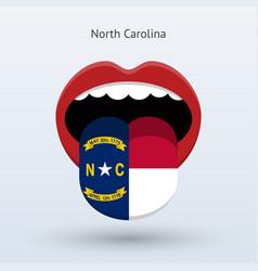 electoral vote of north carolina abstract mouth vector image