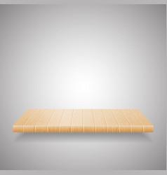 empty wooden shelf on gradient background vector image