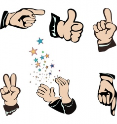 Hands pointing vector