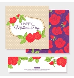 Happy Mothers Day Typographical Background With vector image