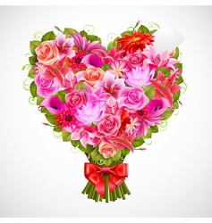heart shaped posy vector image vector image