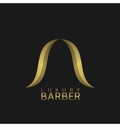 Luxury barber shop logo vector
