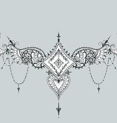 Mehndy flowers tattoo template can be used on the vector