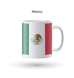 Mexico flag souvenir mug on white background vector