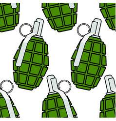 military grenade seamless pattern vector image vector image