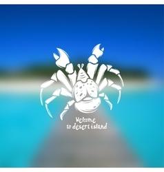 palm thief crab vector image vector image
