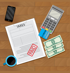 Paying tax web transaction vector