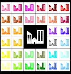 Real estate sign felt-pen 33 colorful vector
