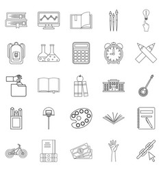 Scholastic degree icons set outline style vector