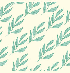 Seamless floral pattern blue vector