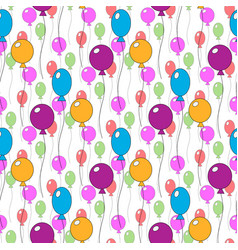 Seamless pattern of different colorfull cute vector