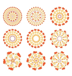 set of autumn mandalas vector image