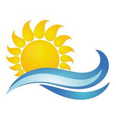 Sun and sea vector