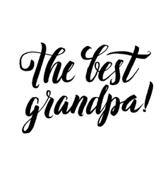 The best grandpa happy grandparents day vector