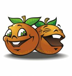 two merry oranges vector image vector image
