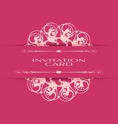vintage background of invitation card vector image vector image
