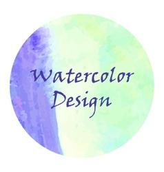 Watercolor frame design vector