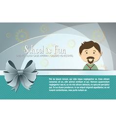With backtoschool and teacher vector